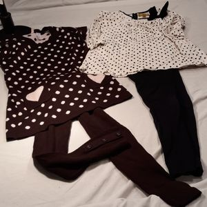 2 Outfits girls 6/6x